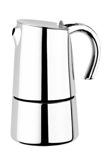 BRA Bella - Cafetera, Capacidad 2 Tazas, Acero Inoxidable 18/10 (Braisogona_A170500)