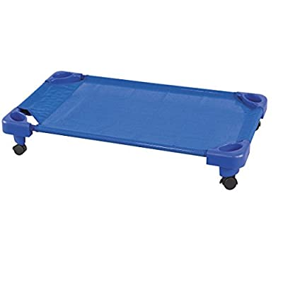 ECR4Kids Stackable Assembled Kiddie Cot with Casters