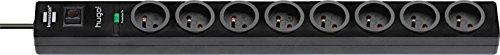 Brennenstuhl Steckdosenleiste mit Überspannungsschutz, 8Steckdosen, schwarz, 1150611608