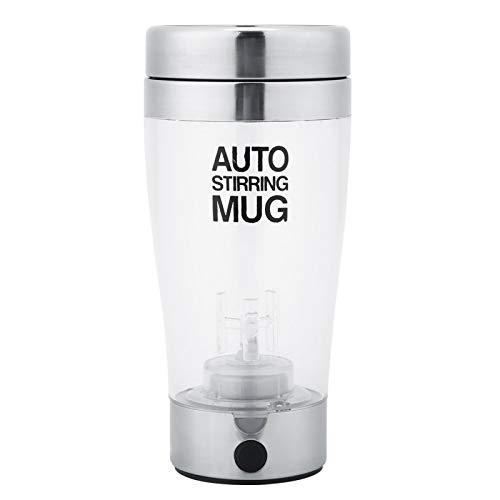 WAQU Taza de agitación eléctrica-400ml Taza de agitación eléctrica de Acero Inoxidable Taza de café de Jugo de Leche automática