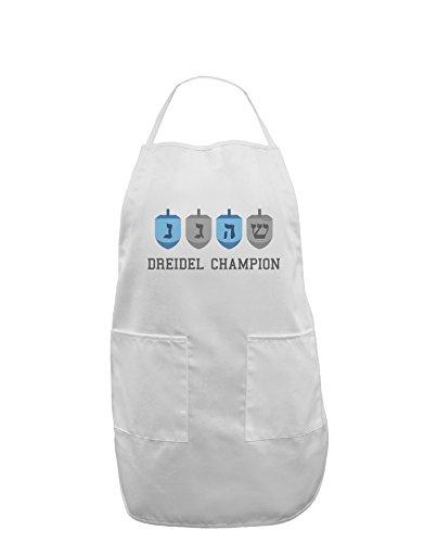 Dreidel Champion Hanukkah Adult Apron - White - One-Size