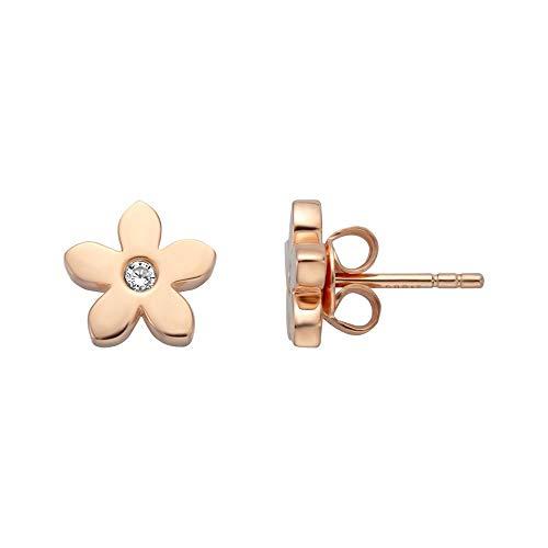 Esprit Ohrringe ESER01211300 Damen Ohrstecker Blume Bloom Silber 925 Rose