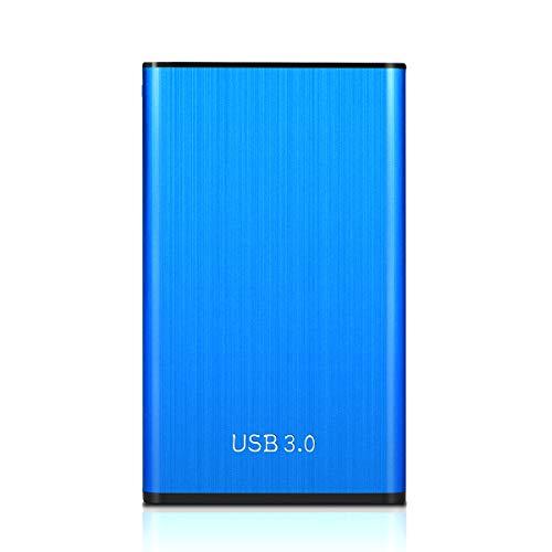 Blue Mini Metal Hard Drives Enclosure, 2.5'' HDD Case USB 3.1gen1 External Hard Disk Drive SSD Enclosure Box Portable Clear Hard Disk Case