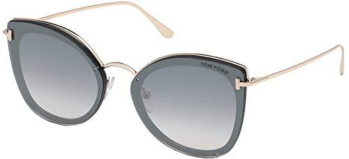 Tom Ford FT0657 01C Shiny Black Charlotte Cats Eyes Sunglasses, Black, Size 15.0