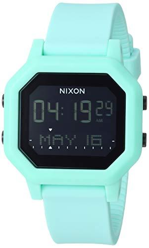 NIXON Siren A1210 - Aqua - 100m Water Resistant Women's Digital Sport Watch (38mm Watch Face, 18mm-16mm Pu/Rubber/Silicone Band)