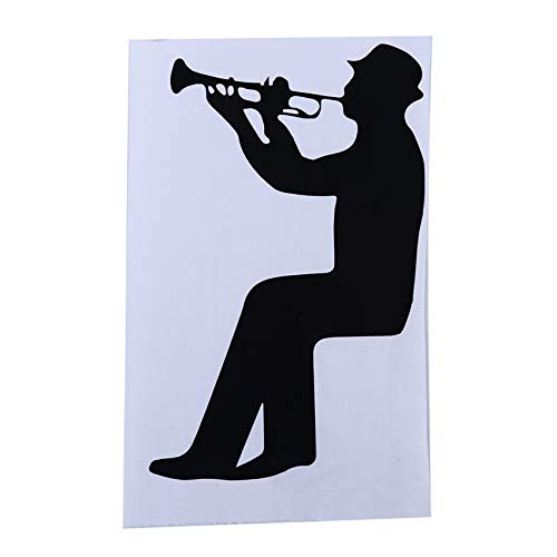 WEIHEEE Home Decoration Wandtattoo Boy Blowing Saxophone Switch Wandaufkleber