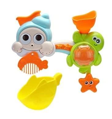 Fancy Combs Pulverizar la Concha de la Tortuga de los niños Especiales de la Ducha de baño Animales Juguetes Lindo Pato Amarillo Azud bebé Grifo de Las Aguas de baño de Herramientas Dabbling Juguetes