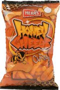 Herr's - HONEY CHEESE CURLS, Pack of 9 bags