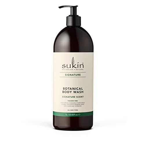 Sukin Signature Botanical Body Wash with Pump, 1 L