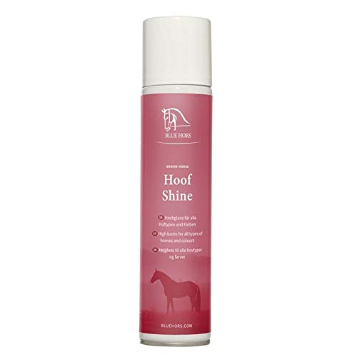 Blue Hors Hoof Shine – heldere huflack, hoogglans voor alle hoeftypes en kleuren; hoefglans uit de praktische spuitbus