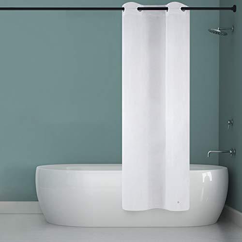 Furlinic Schmaler Duschvorhang für Eck Dusche und Kleine Badewanne Badvorhang aus PEVA Schimmelresistent Wasserdicht Wasserabweisend Weiß 90x180 mit Groß Ösen und Magnet.