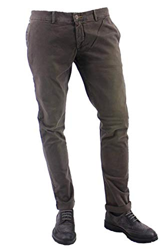 Maison CLOCHARD Herren-Hose, amerikanische Tasche mit Muster in den Taschen A, Braun 38 cm