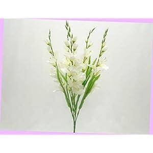 Artificial Gladiolus Bush Artificial Silk Flowers 26″ Bouquet 5-5971 Bouquet Realistic Flower Arrangements Craft Art Decor Plant for Party Home Wedding Decoration