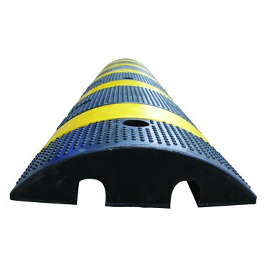 6 Recycled Rubber Safety-Striped Big Bump