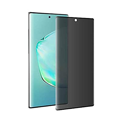 Galaxy Note 10 Plus Privacy Screen Protector, Tempered Glass [Anti-spy] [9H Hardenss] [3D Curved] [Easy Installation] Screen Film for Samsung Galaxy Note 10 Plus