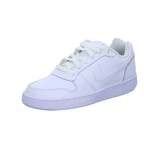 Nike Women's Ebernon Low Sneaker, White/White, 8 Regular US
