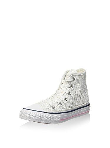 Converse Zapatillas Abotinadas All Star Hi Tiny Crochet Blanco/Rosa EU 37