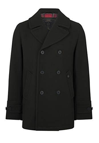 Merc Doyle Pea Coat Abrigo, Caqui Oscuro, S para Hombre
