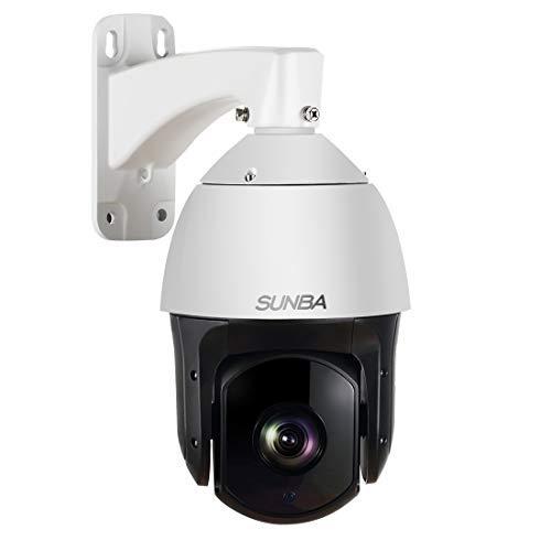 SUNBA 1080P Starlight PoE+, 20-facher optischer Zoom, Laser IR-Cut 250m, Nachtsicht, Im Freien, Wasserdicht 120°/s Hochgeschwindigkeits-PTZ Überwachungskamera über IP-Netzwerk mit ONVIF (601-D20X)