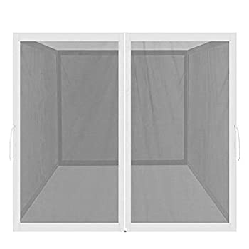 PROHIKER Mosquito Net for Outdoor Patio and Garden Screen House for Camping and Deck Outdoor Gazebo Screenroom Zippered Mesh Sidewalls for 10x 10  Gazebo and Tent  Screen House in White
