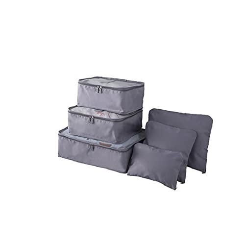 Impermeables del Recorrido del Almacenaje Bolsas De Equipaje Organizador Cubo Ropa Clasificación Bolsa De Embalaje Paquetes Paquete De 6 Piezas L