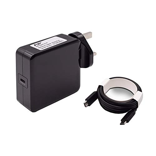 Wikiparts* New 65W USB-C Type C Charger Replacement For Lenovo Thinkpad L380 L390 L480 L490 L580 L590 20M5 20M6 20M7 20M8 20NT 20LS 20LT 20LW - Black