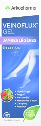 Arkopharma - Veinoflux Gel - Pour des jambes légères - Effet Froid - 150 ml