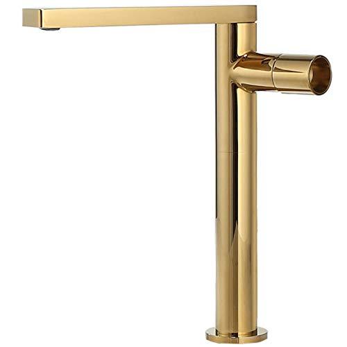 Becken Wasserhahn Gold Bad Wasserhahn Einhebelmischer Warm- und Kaltwasserhahn Messing Waschbecken Wasserkran