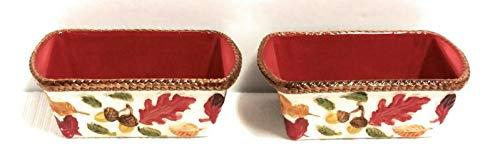 Temp-tations S/2 Mini Loaf Pans, 12 ounces each (Harvest)