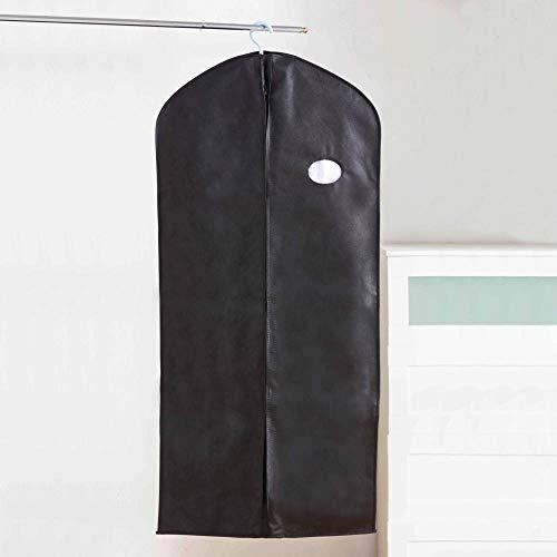 ANCAIBAN Cubierta Antipolvo para Ropa Armario no Tejida Cubierta Protectora para Traje de Camisa Bolsa para Colgar Abrigo y Chaqueta Bolsa de Almacenamiento a Prueba de Humedad-Negro_60 * 100cm