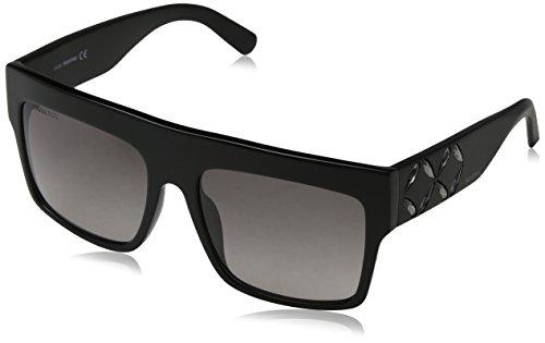 Swarovski Sonnenbrille SK0128 5601B Gafas de sol, Negro (Schwarz), 56 para Mujer