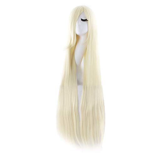 """MapofBeauty 40"""" 100cm Anime Costume Long Straight Cosplay Wig Party Wig (Light Blonde)"""