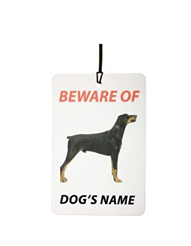 AAF Ambientador De Coche Personalizado DOBERMAN DOG