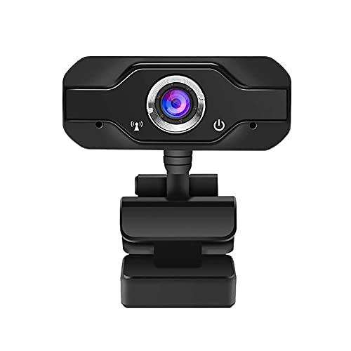 CREACEC 1080p Full HD Webcam, 1920 x 1080 Cámara de Leva de PC USB 2.0 3.0 con 4 micrófonos para Windows 2000 30FPS Tasa de Cuadros 2 Millones de píxeles de sensores,Negro