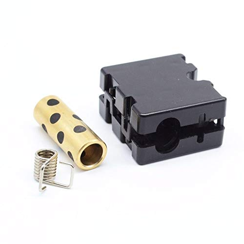 HUANRUOBAIHUO 4set 3D Printer for Upgrade UM2 Ultimaker 2 Extended Sliding Block Injection Slider With Graphite Copper Sleeve bearing + Spring DIY 3D Printer Parts