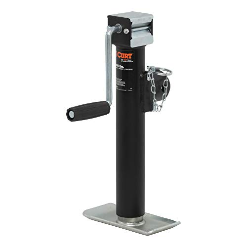 CURT 28321 Weld-On Pipe-Mount Swivel Trailer Jack, 2,000 lbs. 10 Inches Vertical Travel