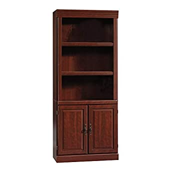 Sauder Heritage Hill Library With Doors - Classic Cherry finish