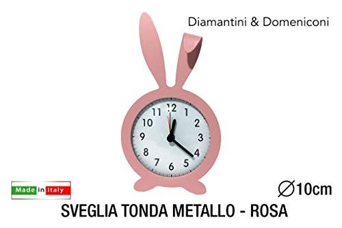 Diamantini und Domeniconi Wecker Tonda Metall Roger Pink