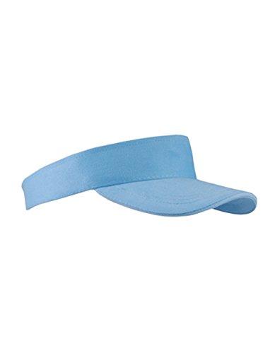 Textildruck Plauen Sun Visor Cap Sandwich Sonnenblende Mütze Sport Kappe viele Farben (Babyblue)