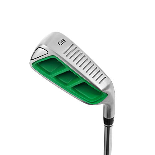 MAZEL Golf Pitching & Chipper Wedge,Right Handed,35,45,55 Degree Available for Men & Women,Improve Your Short Game (Right, Stainless Steel (Green Head), Regular, 60)