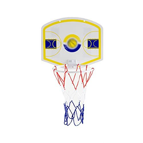 Reemplazo de red de baloncesto resistente Pequeño tablero pequeño portátil para niños, soporte de baloncesto sin punch, colgando el aro de baloncesto, juguete de tiro de interior Aro de baloncesto int