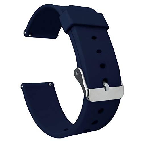 Acm Watch Strap Silicone Belt 20mm Compatible with Goqii Smart Vital Smartwatch Casual Classic Band Blue