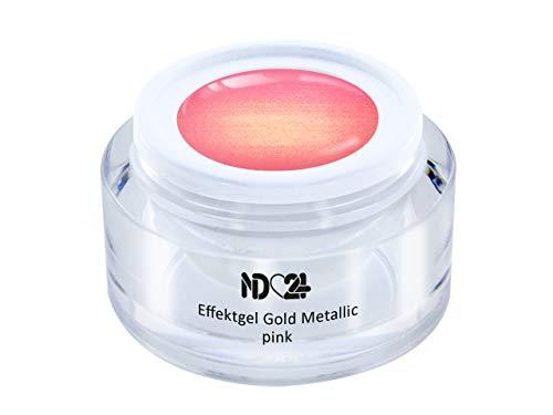Uv Led Effekt-Gel Gold Metallic Pink - Rosa - Studio Qualität - Made In Germany - 5ml