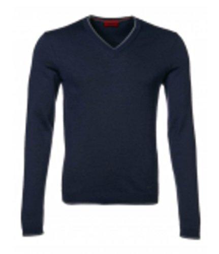Hugo Pull en tricot sevirian couleur bleu foncé 418 g : S