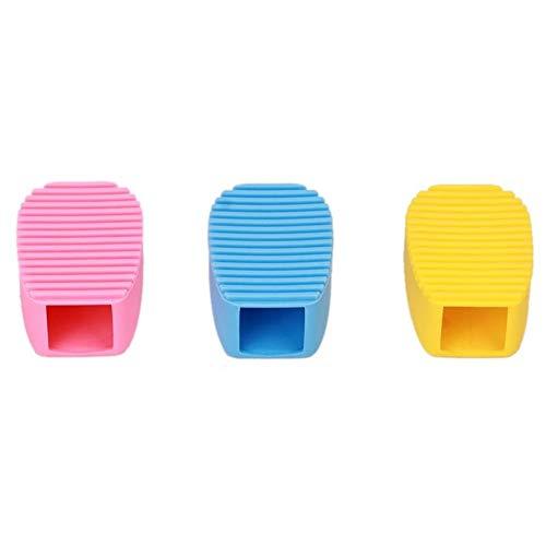 Nuofake Wäsche Kleidung Schuhe Waschen Bürstenreiniger Silikon Bonbonfarben Haushalt - Gelb oder Duschgel (Farbe : Blue)