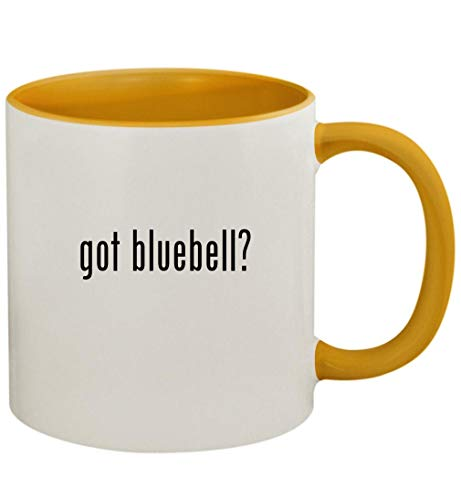 got bluebell? - 11oz Ceramic Colored Handle and Inside Coffee Mug Cup, Golden Yellow