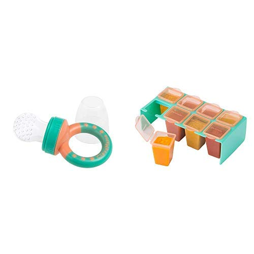 Clevamama Baby Fruit Feeder Clevafeed - Fresh Food Pacifier with Extra...