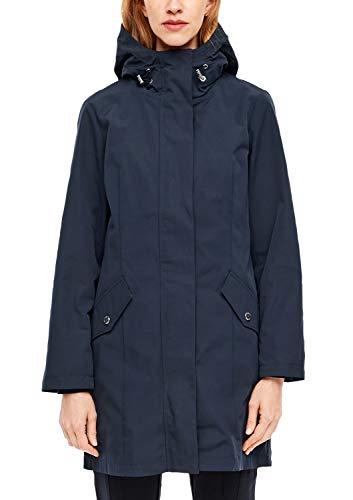 s.Oliver RED Label Damen Mantel mit fixierter Kapuze Navy 38
