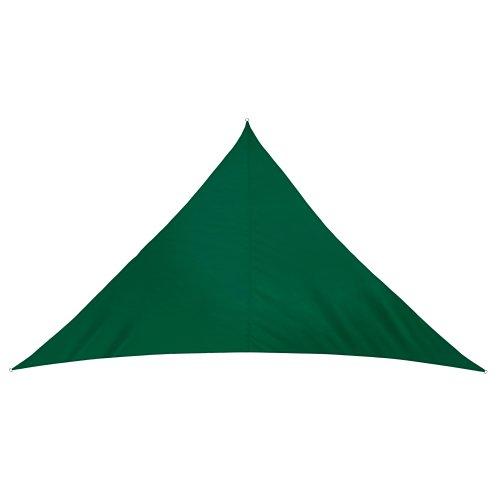 jarolift Voile d'ombrage | Toile d'ombrage | Voile Triangulaire| Tissu imperméable à l'eau | 600 x 420 x 420 cm, Vert