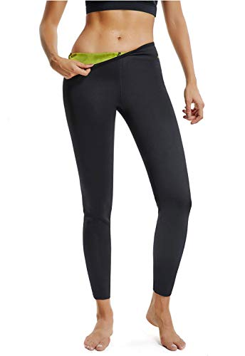 FITTOO Pantalones Sauna Reductora Adelgazante Deportivos Mujer Yoga de Alta Cintura para Fitness